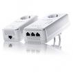 Devolo dLAN 500 AV Wireless Starter Kit+ 3 LAN Anschlüsse integrierte Steckdose für 119,00 Euro