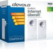 Devolo dLAN 650 triple+ Starter Kit 3 Gigabit LAN-Anschlüsse 600Mbit/s für 89,00 Euro