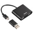 00054140 USB-2.0-OTG-Hub 1:2 für Smartphone/Tablet/Notebook/PC