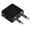 00122383 Adapter 2x 3,5-mm-Klinken-St. Mono - 3,5-mm-Klinken-Kuppl. Stereo