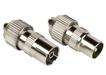 Hama 00122473 Koax-Set Metall Stecker/Kupplung schraubbar für 5,49 Euro