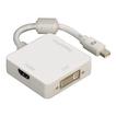 00053245 3in1-Mini-DisplayPort-Adapter für DVI, Displayport oder HDMI