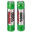 Hama 00087055 NiMH-Akkus 2x AAA (Micro - HR03) 1000 mAh für 9,99 Euro