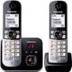 Panasonic KX-TG6822GB Schnurlostelefon mit Anrufbeantworter 30min für 49,99 Euro