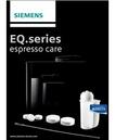 Siemens TZ80004 Pflegeset geeignet für alle Kaffeevollautomaten der EQ Reihe für 34,99 Euro