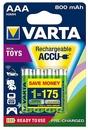 Varta Toy Micro AAA NiMH 800mAh Akku-Batterien 4er Blister für 13,99 Euro