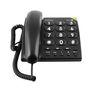 Phone Easy 311c schnurgebundenes Telefon hörgerätekompatibel (Schwarz)