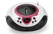SCD-38 USB CD-Stereo-Radiorecorder AUX-IN Repeat-Funktion (Pink)