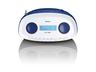 SCD-69 tragbare Boombox mit DAB+ Radio CD/MP3-Player USB AUX-IN (Blau)