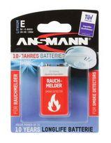 Ansmann Lithium Batterie für Rauchmelder 9V E-Block 10-Jahre Longlife für 10,49 Euro