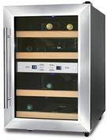Caso Wine Duett 12 Weinkühlschrank D 2 Kühlzonen für je 6 Flaschen für 199,99 Euro