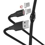 "Hama 00178374 Lade-/Datenkabel ""Magnetic"" USB Type-C 1m für 18,99 Euro"