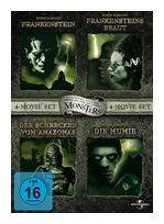Monster Collection - 4-Movie Set:Frankenstein (1931),Frankensteins Braut (1935),Der Schrecken vom Amazonas (1954),Die Mumie (1932) DVD-Box (DVD) für 12,99 Euro