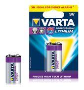 Varta Lithium E-Block 6122 9V 1200mAh Block-Batterie für 11,99 Euro