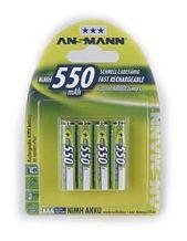 NiMH Akku Micro AAA 550mAh maxE Batterien 4er Blister