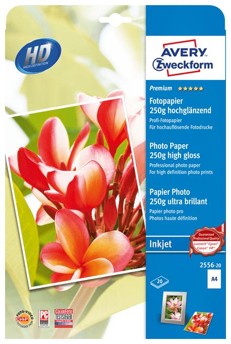 2556-20 Premium Inkjet Fotopapier DIN A4 250g/m² 20 Blatt