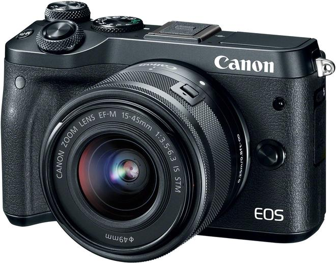 EOS M6 Systemkamera 7,5cm/3'' 24,2MP + EF-M 15-45mm 3.5-6.3 IS STM