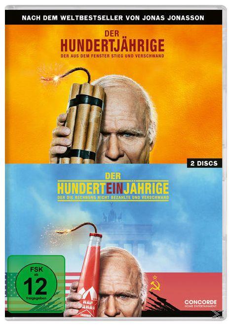 Der Hundertjährige, der aus dem Fenster stieg und verschwand / Der Hunderteinjährige, der die Rechnung nicht bezahlte und verschwand - 2 Disc DVD (DVD)