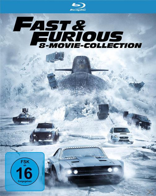 Fast & Furious - 8 Movie Collection BLU-RAY Box (BLU-RAY)