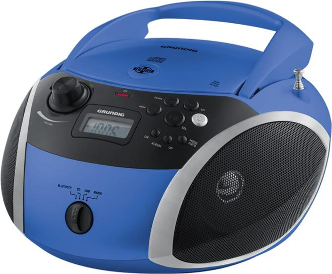 GRB 3000 BT Kompaktanlage CD-Player USB Bluetooth Blau, Silber