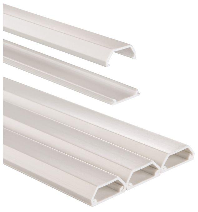 00020571 PVC-Kabelkanal eckig, 100/2,1/1,0 cm 3 Stück