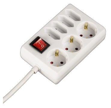 00108848 Steckdosenleiste 7-fach mit Schalter 1,4m