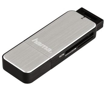 00123900 USB-3.0-Kartenleser SD/microSD Alu
