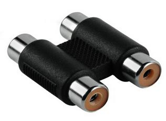 00122370 Cinch-Adapter 2 Cinch-Kupplungen - 2 Cinch-Kupplungen