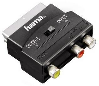 00122239 Video-Adapter 3 Cinch-Kupplungen (1x Video/Audio L u. R) -Scart-St