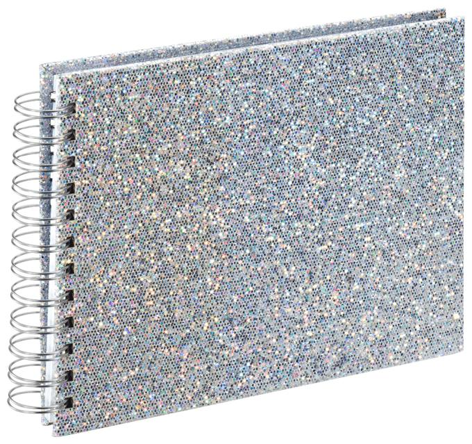 """00002590 Spiral-Album """"Glam"""" 24x17cm 50 weiße Seiten"""