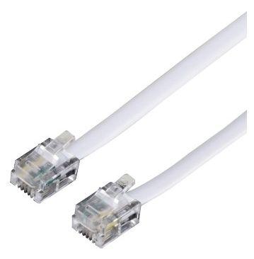 00044491 Modularkabel Stecker 6p4c - Stecker 6p4c 10m