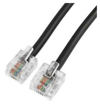 00044500 DSL-Anschlusskabel Modular-Stecker 8p4 -Modular-Stecker 6p4c 6 m