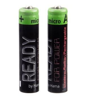 "00087095 NiMH-Akkus ""Ready4Power"" 2x AAA (Micro - HR03) 1000 mAh"
