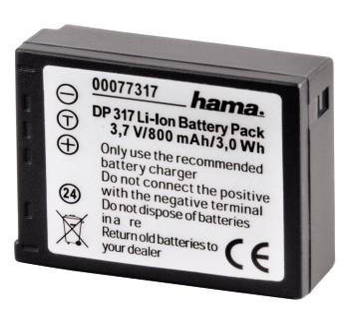 "00077317 Li-Ion-Akku ""DP 317"" für Panasonic CGA-S007E"