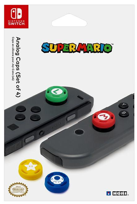 Super Mario Analog-Stick Caps 4 Stück Nintendo Switch
