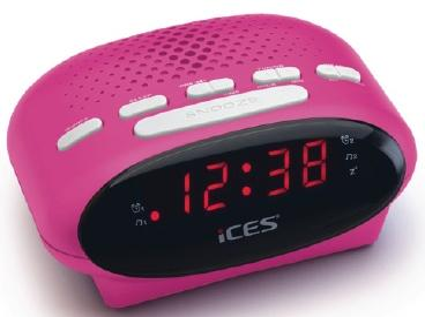 ICR-210 Radiowecker zwei Weckzeiten und Schlummerfunktion Sleep-Timer