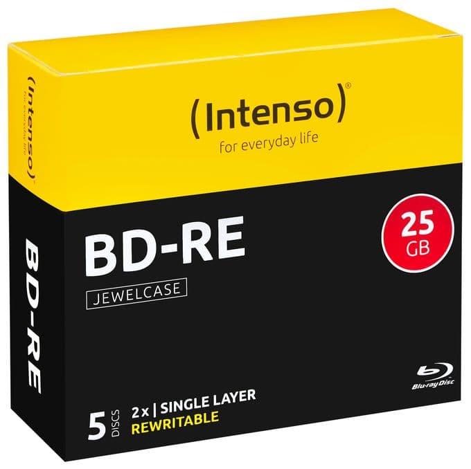 BD-RE Blu-ray Rohlinge 25GB 5er Jewelcase Schreibgeschwindigkeit 2x