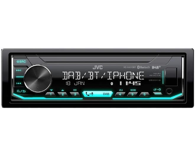 KD-X451DBT Autoradio FM AM DAB+ Bluetooth USB AUX-IN
