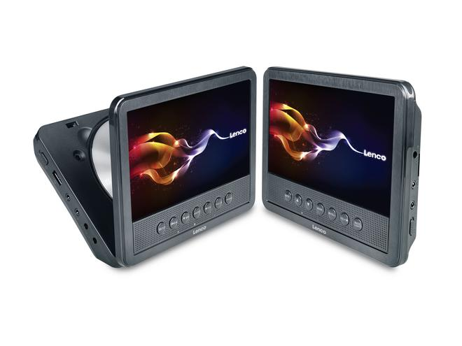 MES-212 tragbarer DVD-Player 2x 7 Zoll Monitore USB AV