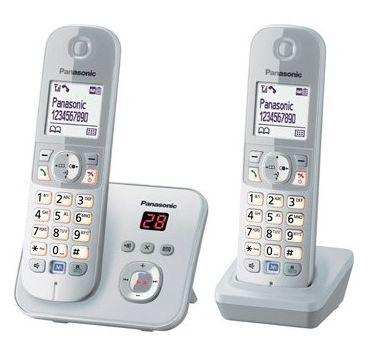 KX-TG6822GS Schnurlostelefon mit Anrufbeantworter 30min