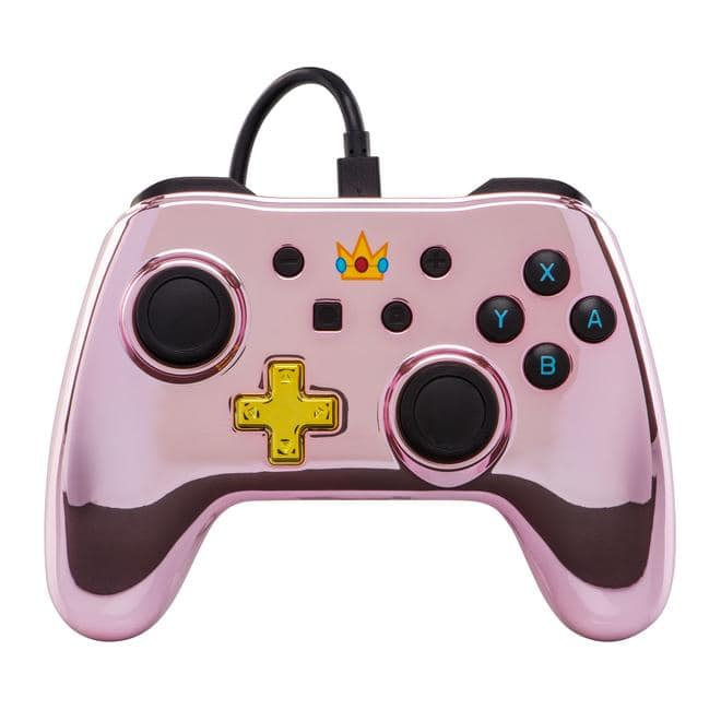Nintendo Switch Wired Princess Peach Controller Pink