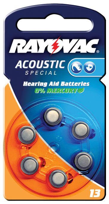 Rayovac Hörgerätebatterie Typ 13 6er Pack