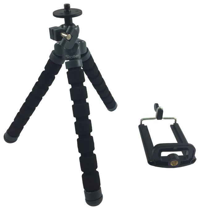 Selfie Mini Stativ 16-19cm inkl. Smartphone-Adapter 360° drehbar