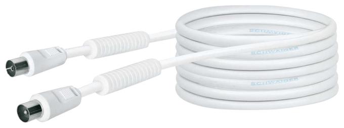 KVKF100 532 Antennenkabel, IEC Stecker > IEC Buchse Ferritkern 10m