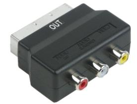 SCA7310 531 AV Adapter: SCART Stecker (IN) > 3 CINCH Buchsen (OUT)