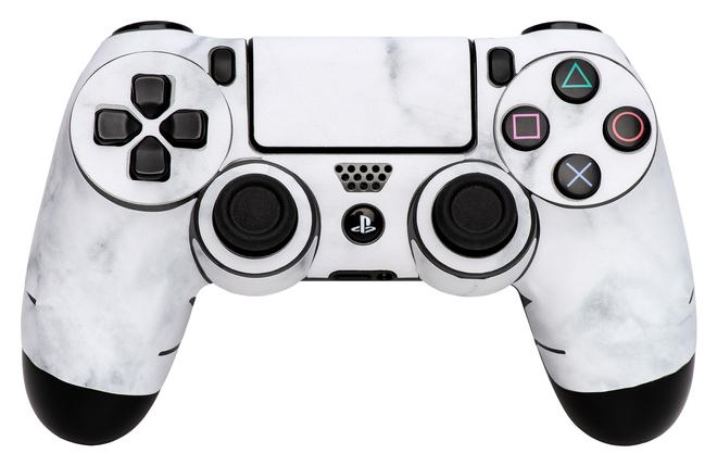 97304 White Marble Gaming controller skin PlayStation 4