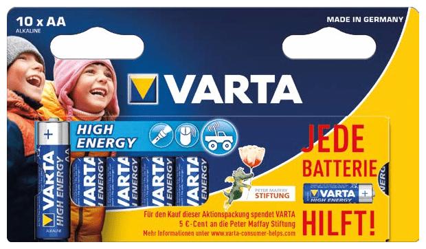 High Energy Mignon AA LR6 1,5V Batterie Alkaline 10er Pack LIMITED EDITION