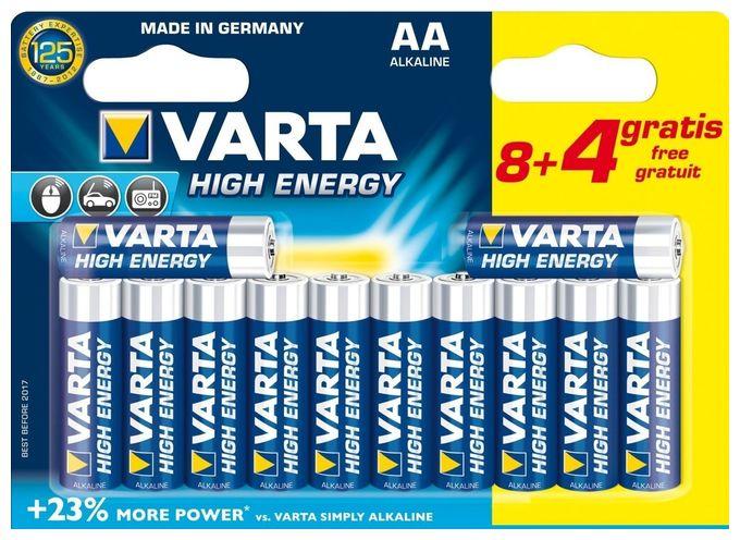 High Energy AA 8+4 Batterien