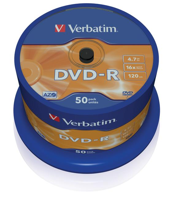 DVD-R Rohlinge AZO 16x 4,7GB Matt Silver Surface 50er Spindel