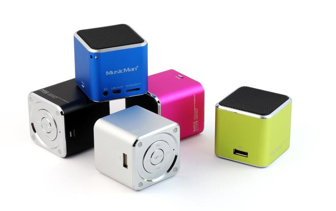 Mini MusicMan portabler Lautsprecher USB MicroSD-Kartenfach